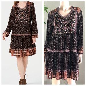Style & Co Beaded Boho Dress Size Petite Large